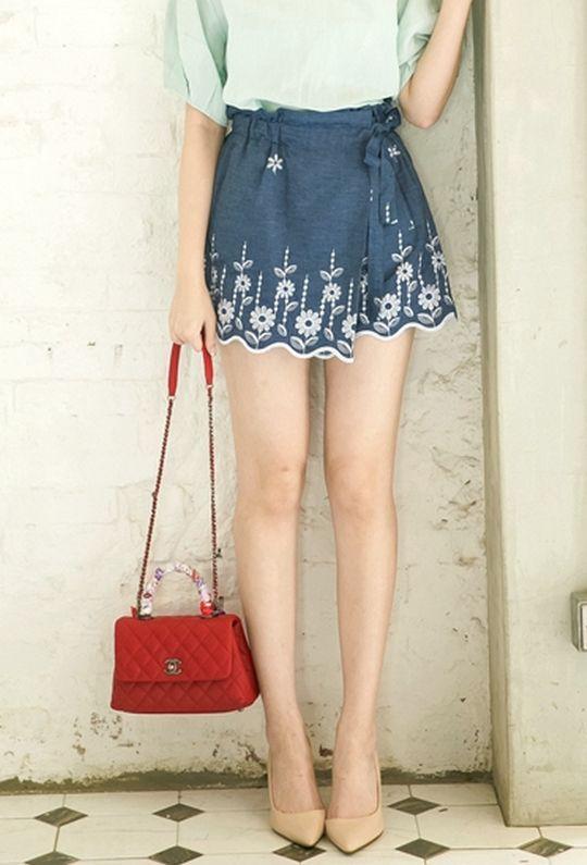 *自訂款* 普羅旺斯的夏天單寧褲裙 880083 {現貨}