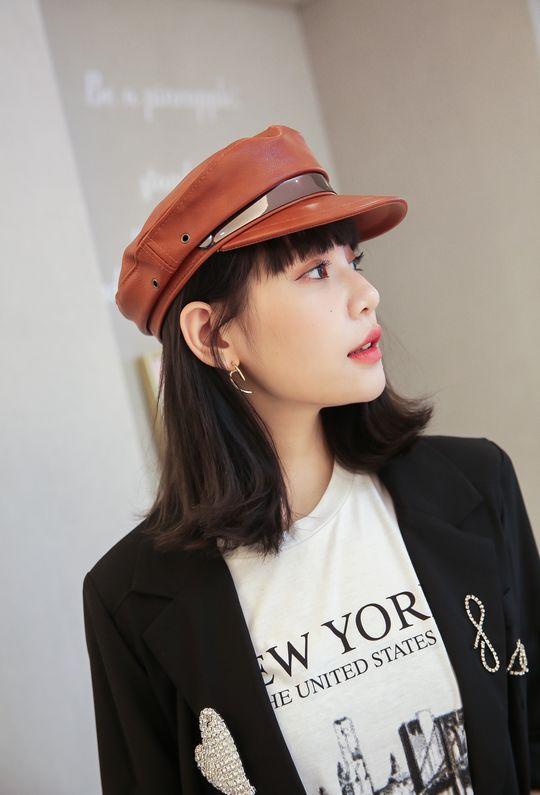 安室的演唱會皮革報童帽191098 {預購+現貨}