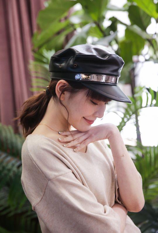安室的演唱會皮革報童帽191098 {現貨}