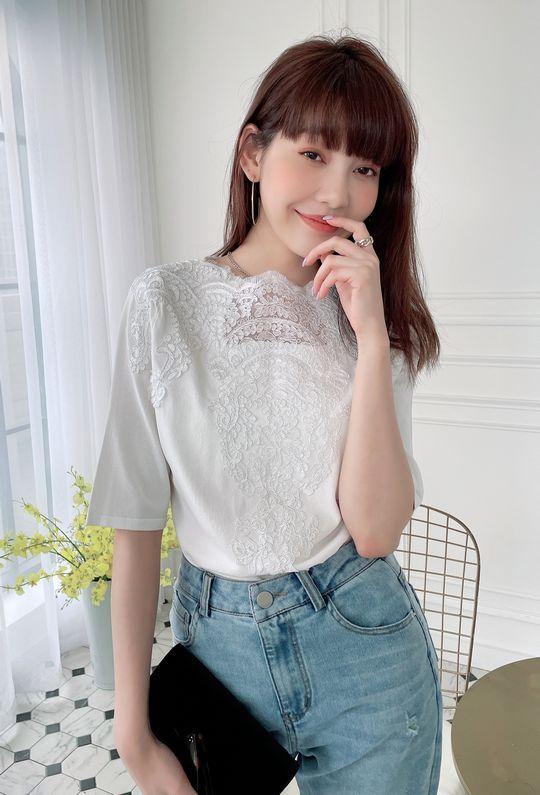 艾洛的甜蜜花園蕾絲TOP 210434 {預購+現貨}