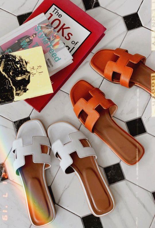 *期間限定價$2180*蔚藍海岸真皮手工拖鞋 210461{預購+現貨}